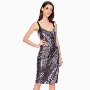 NWT Parker Beau Metallic Lilic Sequin Dress, 2
